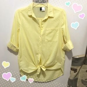 Divided airy button down shirt